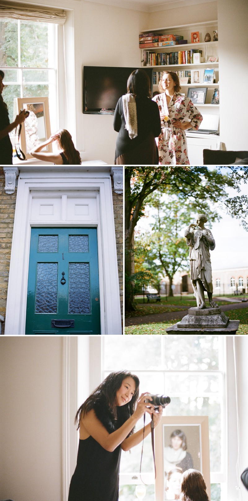 A Chic London Wedding At The Orleans House Gallery And White Horse Pub In Richmond With A JLM Couture Dress And Peach Antique Rose Bouquet By Peachey Photography._0003