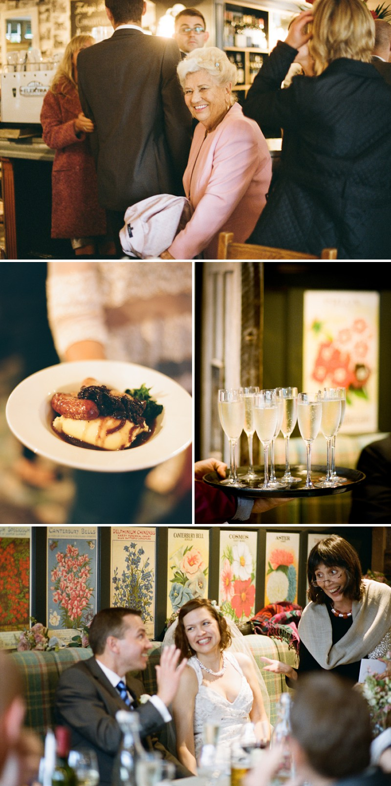 A Chic London Wedding At The Orleans House Gallery And White Horse Pub In Richmond With A JLM Couture Dress And Peach Antique Rose Bouquet By Peachey Photography._0011