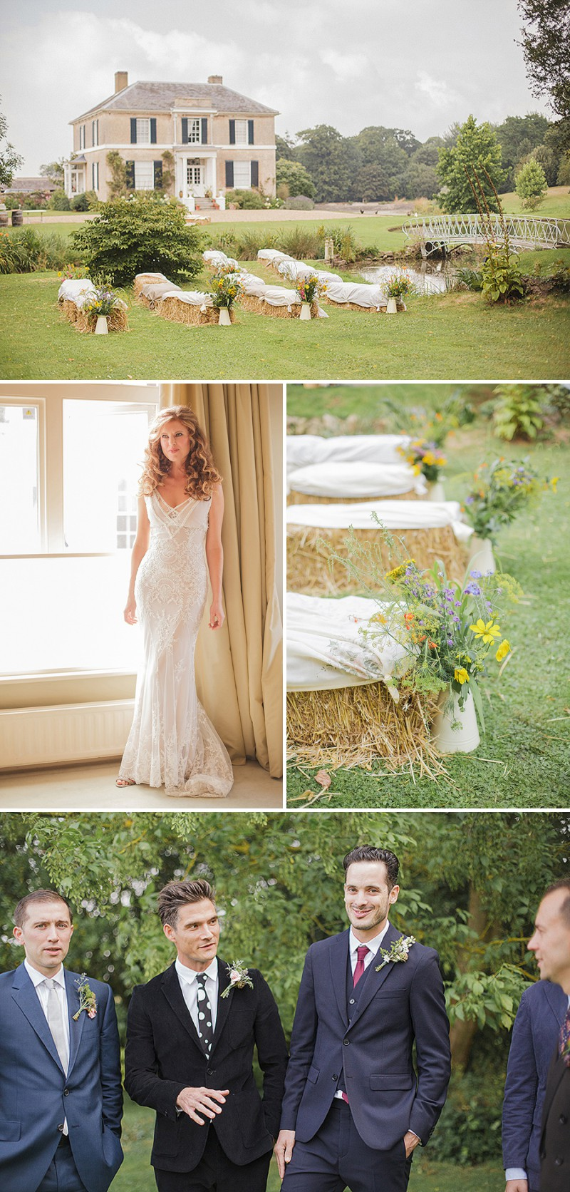 A Pre Raphaelite Inspired Wedding At Preston Court With A John Zimmerman Bespoke Dress And Bridesmaids In Vintage Nightgowns By Sarah Gawler Photography._0001