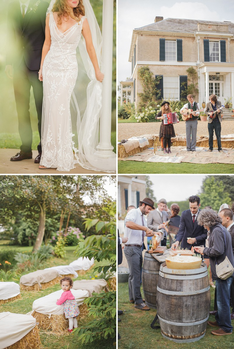 A Pre Raphaelite Inspired Wedding At Preston Court With A John Zimmerman Bespoke Dress And Bridesmaids In Vintage Nightgowns By Sarah Gawler Photography._0006