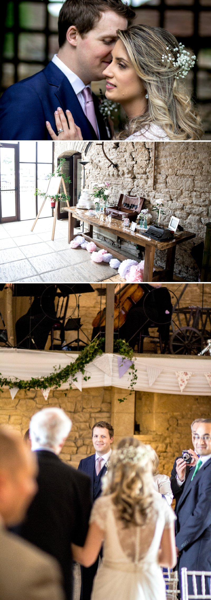 A Pretty Barn Wedding In The Cotswolds At The Great Tythe Barn With Bride In Pronovias And Groom In Reiss With Decor From The Vintage Hire And Images From Richard Jones Photography1