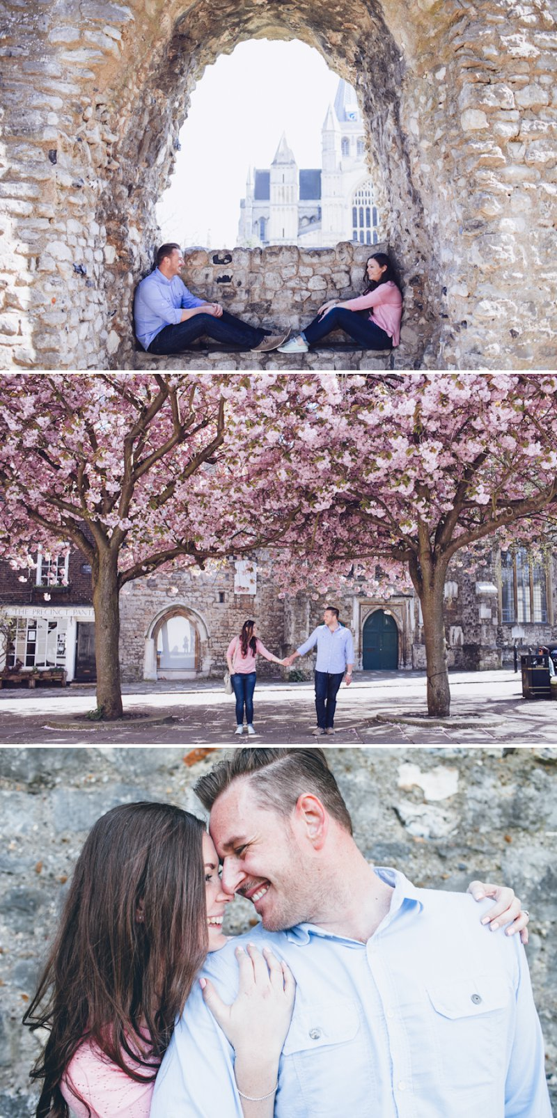 A Pretty Spring Engagement Shoot Under The Cherry Blossom Trees In Rochester Kent With Images By Lemonade Pictures 1