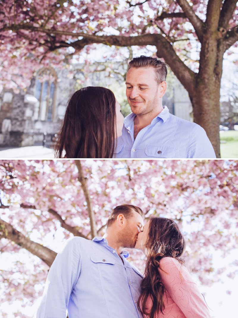 A Pretty Spring Engagement Shoot Under The Cherry Blossom Trees In Rochester Kent With Images By Lemonade Pictures 5