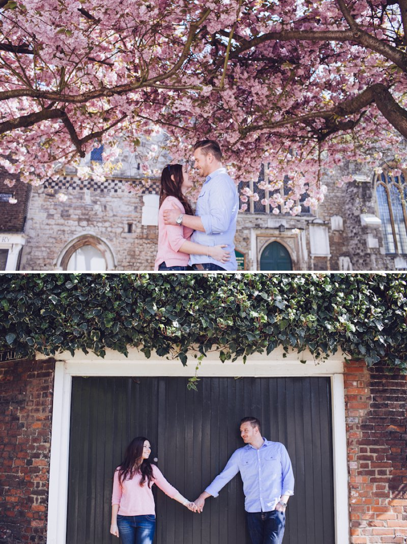 A Pretty Spring Engagement Shoot Under The Cherry Blossom Trees In Rochester Kent With Images By Lemonade Pictures 6