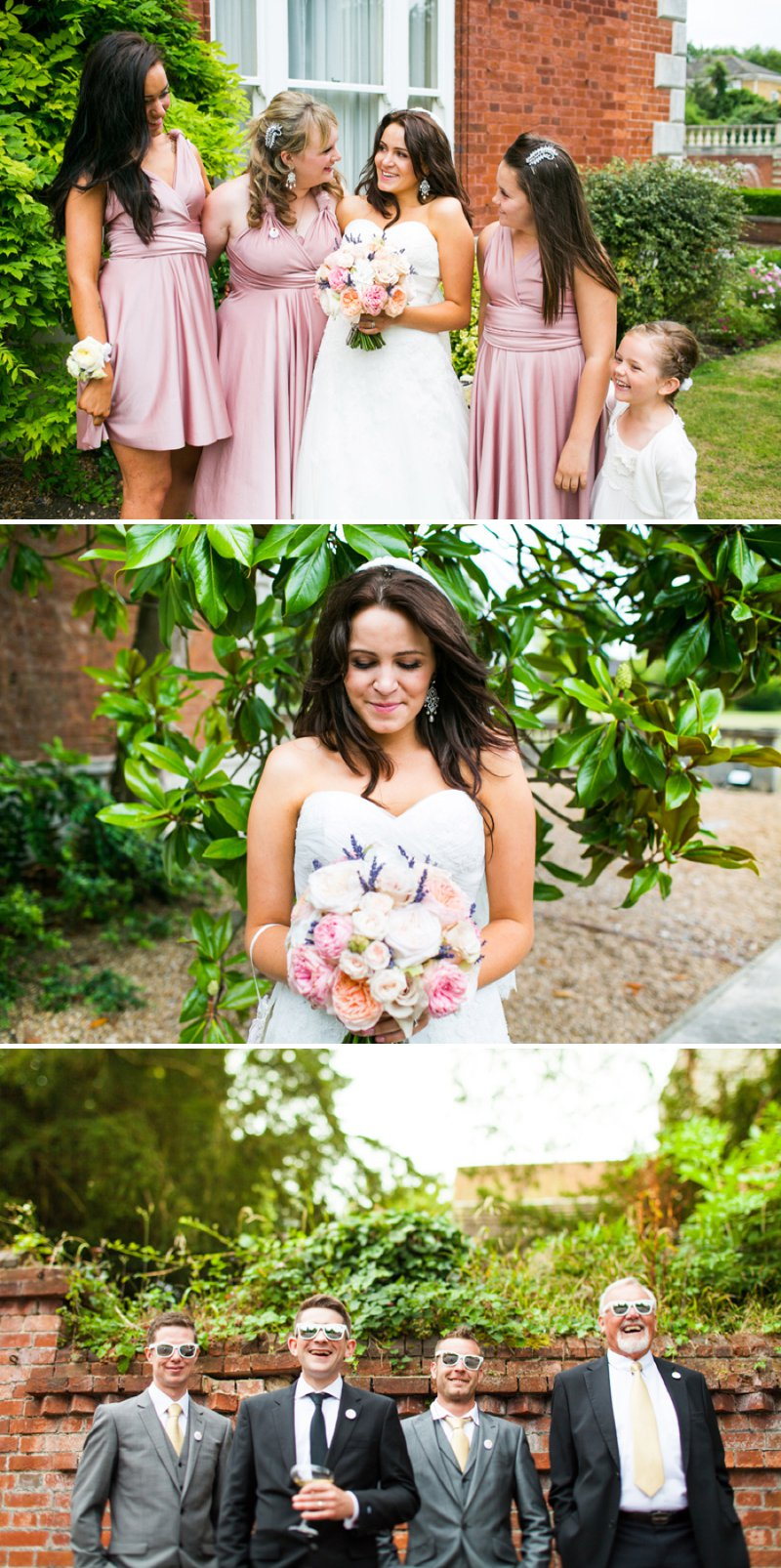 An Elegant Gold Themed Wedding At Fetcham Park With Bride In Dagan By Pronovias And Groom In Hugo Boss Suit With Bridemaids In Pale Pink Gowns From Etsy And Images From Navy Blur1