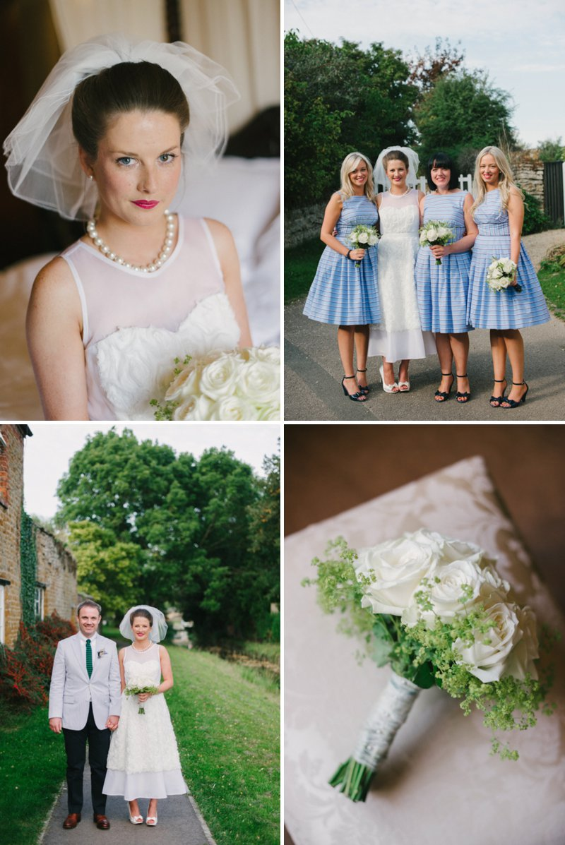 Contemporary Wedding At The Nevill Arms Leicestershire With A Preppy Green And Navy Striped Colour Scheme With Bride In Ankle Length J.Crew Dress 1