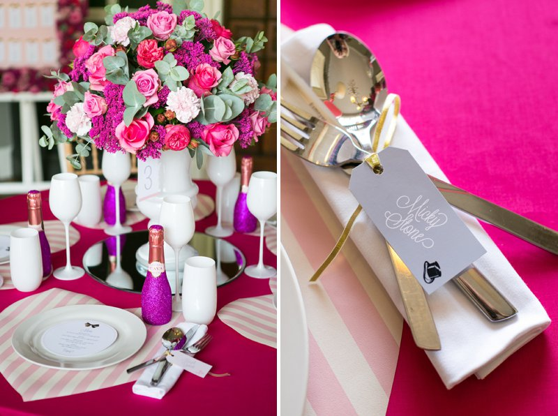 Fun Girly Bridal Inspiration Shoot At Nonsuch Mansion Inspired By Holly Golightly With Bright Pink Details A Vintage Wedding Car With Images by Anneli Marinovich Photography 6
