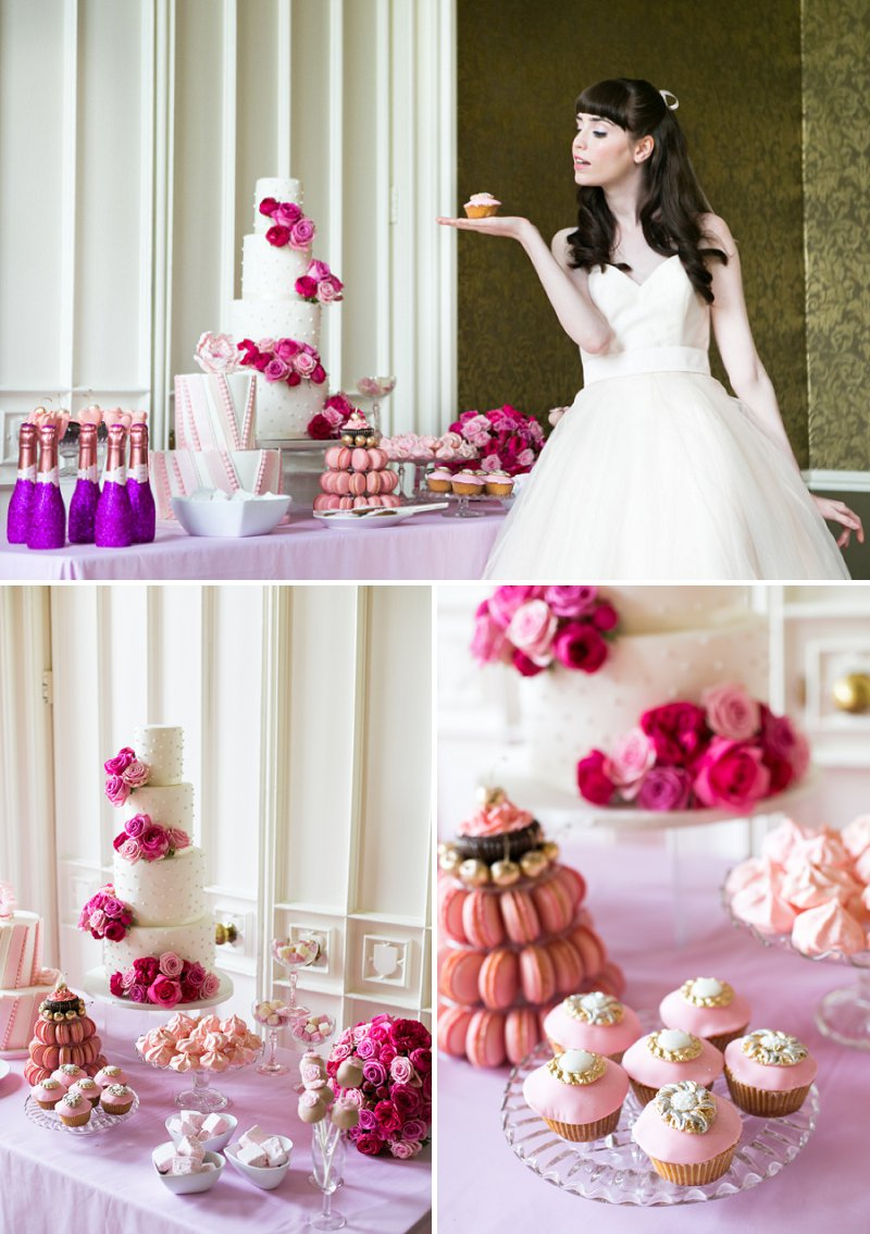 Fun Girly Bridal Inspiration Shoot At Nonsuch Mansion Inspired By Holly Golightly With Bright Pink Details A Vintage Wedding Car With Images by Anneli Marinovich Photography 7