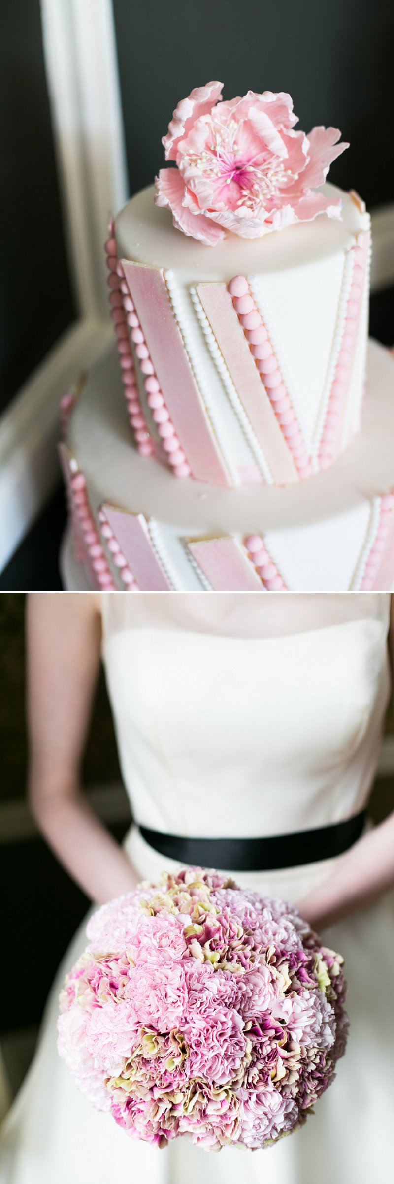 Fun Girly Bridal Inspiration Shoot At Nonsuch Mansion Inspired By Holly Golightly With Bright Pink Details A Vintage Wedding Car With Images by Anneli Marinovich Photography 9