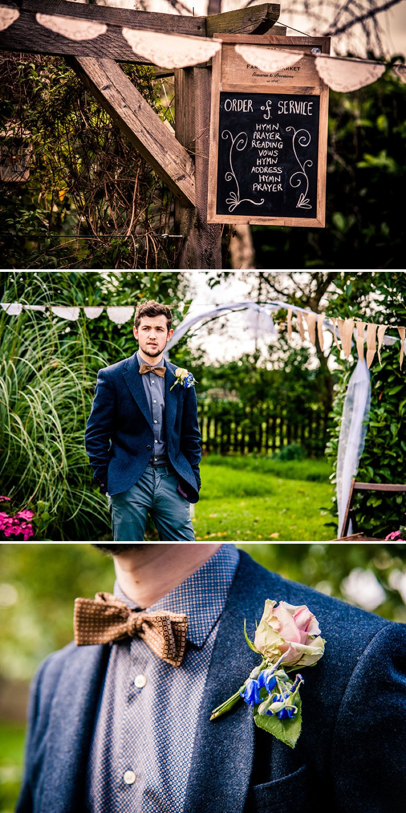 Rustic Backyard Wedding With Bride In Elegant Rapsimo Dress And Groom In Wool Suit And Bowtie With Lots Of Home Made Details And A High Tea Wedding Breakfast 4