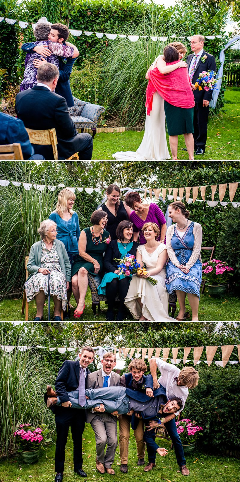 Rustic Backyard Wedding With Bride In Elegant Rapsimo Dress And Groom In Wool Suit And Bowtie With Lots Of Home Made Details And A High Tea Wedding Breakfast 6