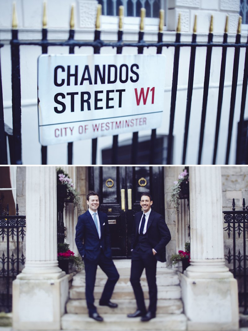 Sophisticated London Wedding At Chandos House With Reception And Dinner At Corrigan's Mayfair With Bride In Peter Langner Gown With Brian Atwood Shoes And Groom In Bespoke Thom Sweeney Suit With Flowers By Scarlet And Violet 4