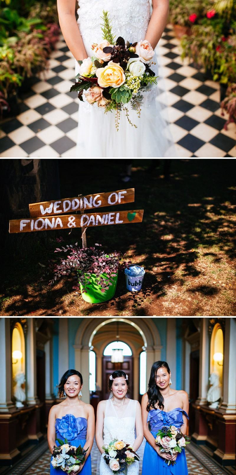 Ultra Hip And Modern Outdoor Destination Wedding In Australia With An Anna Campbell Bridal Gown And An Autumnal Bouquet With Electric Blue Bridesmaid Dresses Photographed By Lakshal Perera._0001