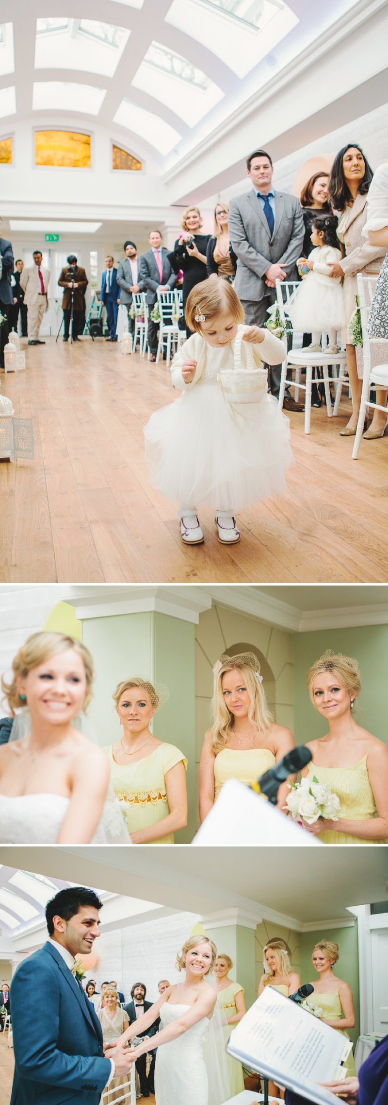 Yellow Themed Vintage Inspired Easter Wedding At Pembroke Lodge Richmond Park With Bride In Balira By Pronovias And Burberry Sandals With Groom In Blue Reiss Suit And Bridesmaids In Yellow Vintage Dresses With Images By Shell De Mar 5