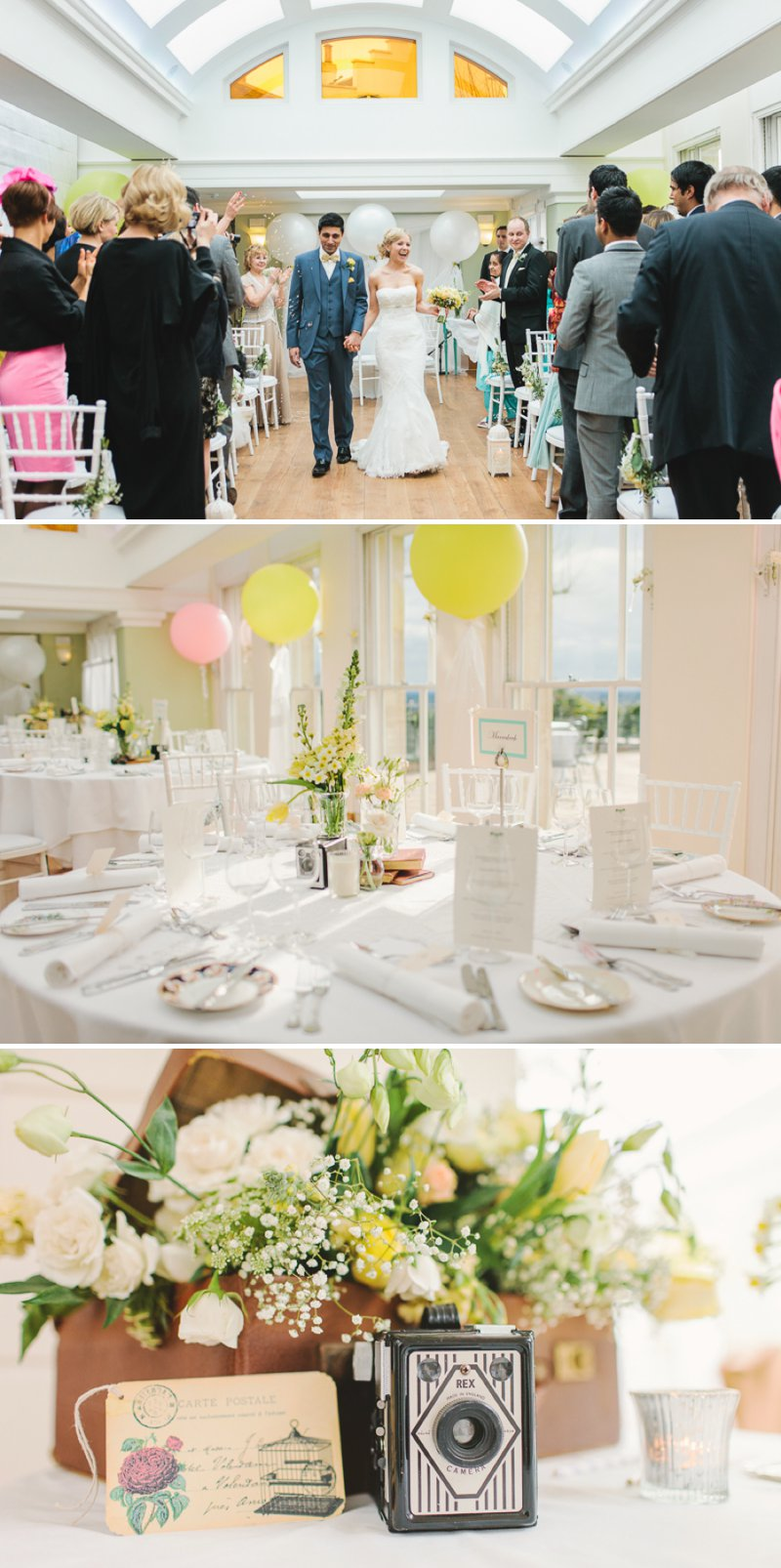 Yellow Themed Vintage Inspired Easter Wedding At Pembroke Lodge Richmond Park With Bride In Balira By Pronovias And Burberry Sandals With Groom In Blue Reiss Suit And Bridesmaids In Yellow Vintage Dresses With Images By Shell De Mar 6