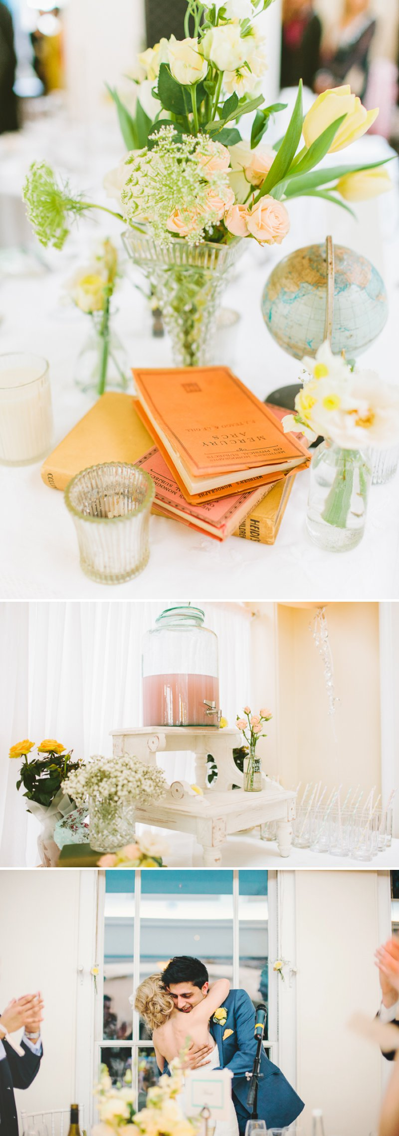 Yellow Themed Vintage Inspired Easter Wedding At Pembroke Lodge Richmond Park With Bride In Balira By Pronovias And Burberry Sandals With Groom In Blue Reiss Suit And Bridesmaids In Yellow Vintage Dresses With Images By Shell De Mar 9