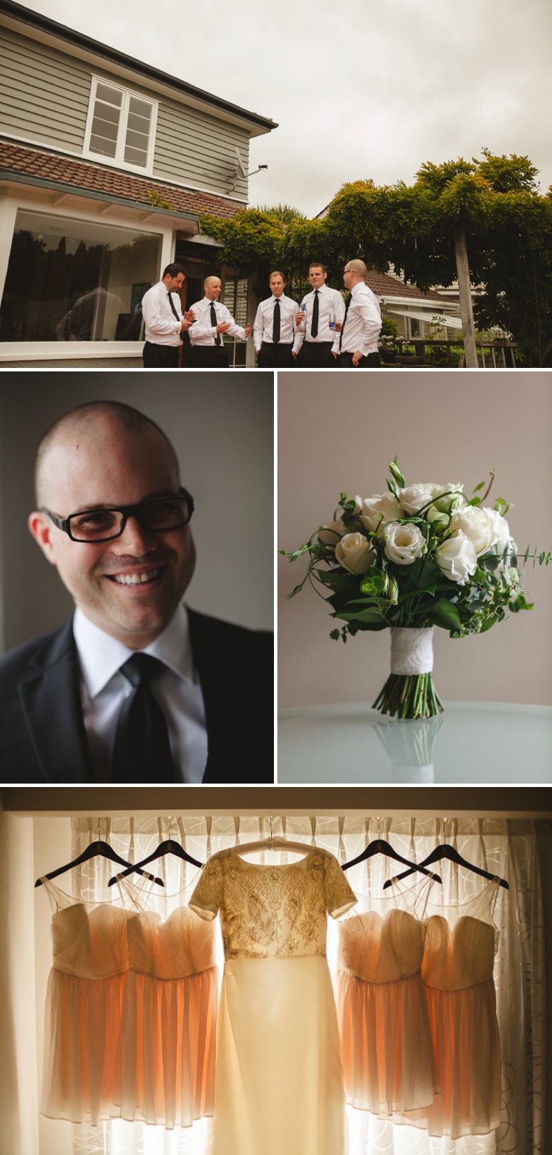 A Destination Black Tie Wedding At Gear Homestead In New Zealand With A Neutral Colour Scheme and A White Rose Bouquet By Tim Williams Photography._0003