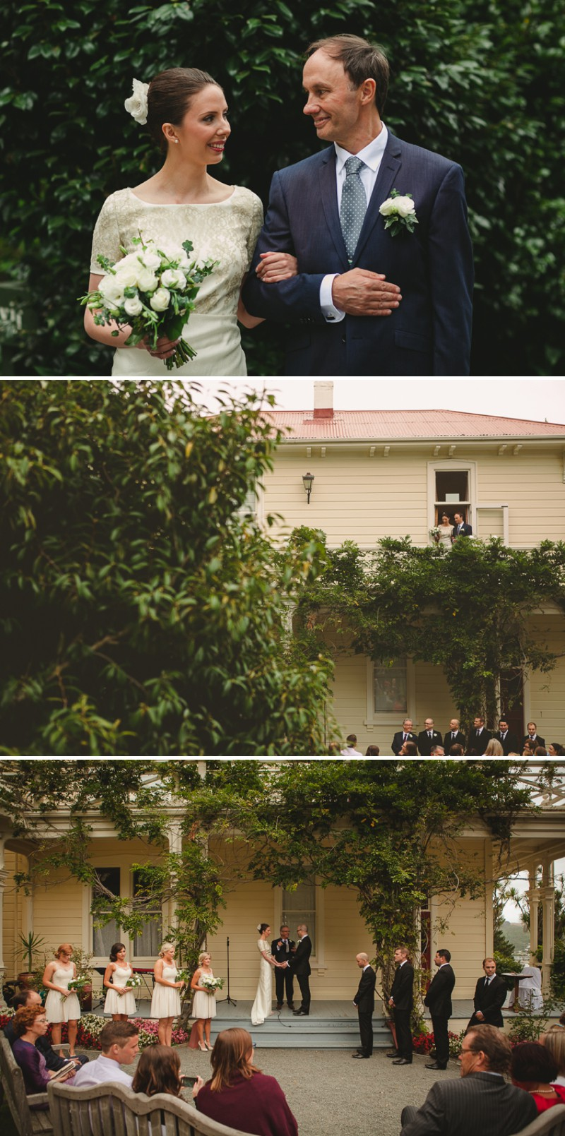 A Destination Black Tie Wedding At Gear Homestead In New Zealand With A Neutral Colour Scheme and A White Rose Bouquet By Tim Williams Photography._0005