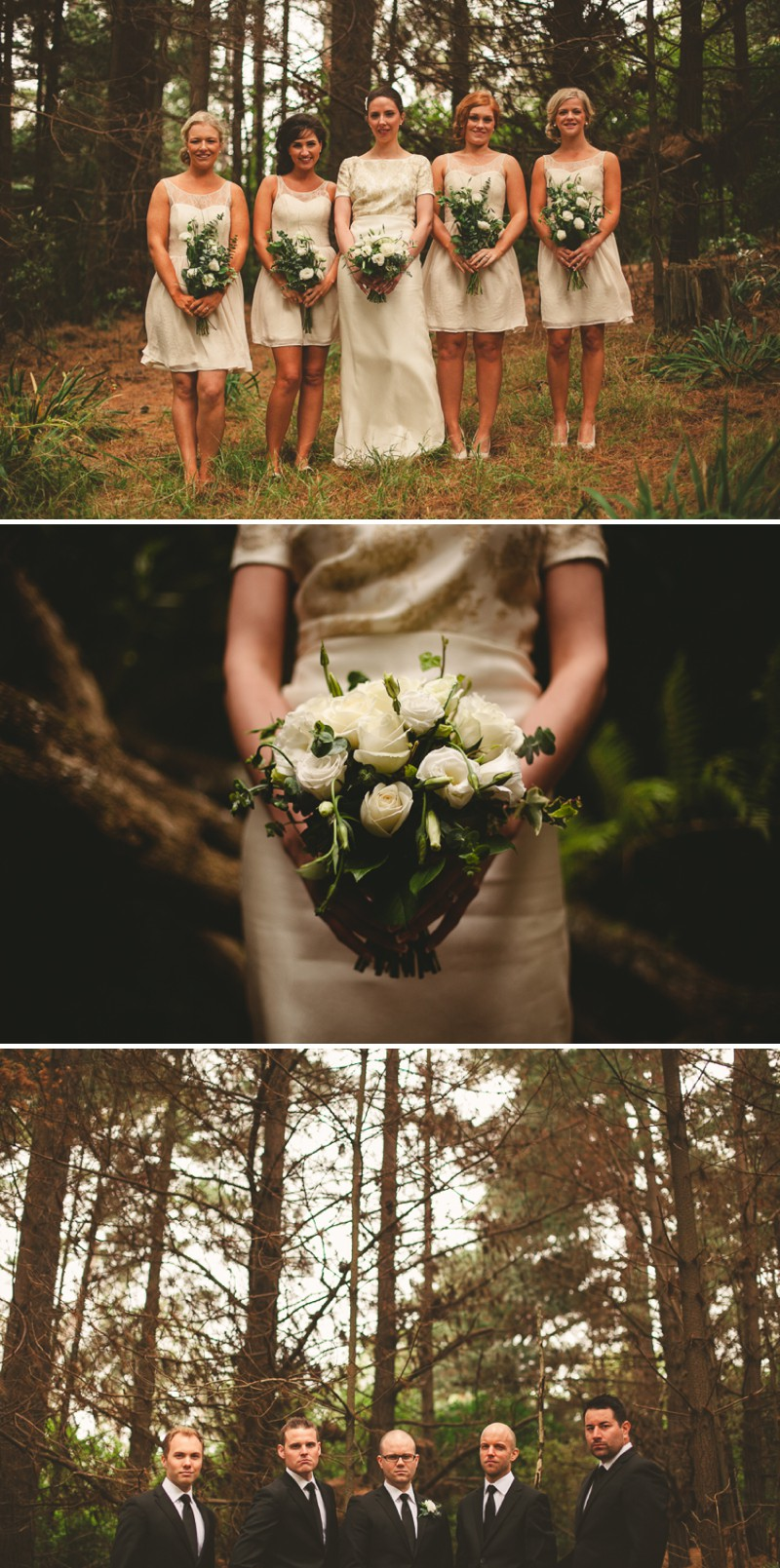 A Destination Black Tie Wedding At Gear Homestead In New Zealand With A Neutral Colour Scheme and A White Rose Bouquet By Tim Williams Photography._0008