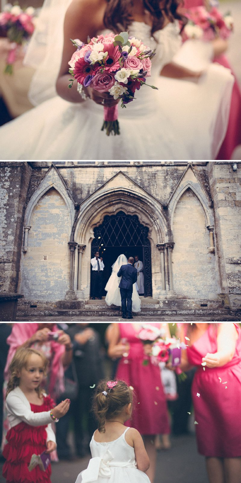 A Fairytale Castle Wedding At Berkeley Castle In Gloucestershire With Bride In Chardonnay By Maggie Soterro And Groom In Reiss With A Fushcia Pink And Cadbury Purple Colour Scheme And Images From Joseph Hall Photography 4