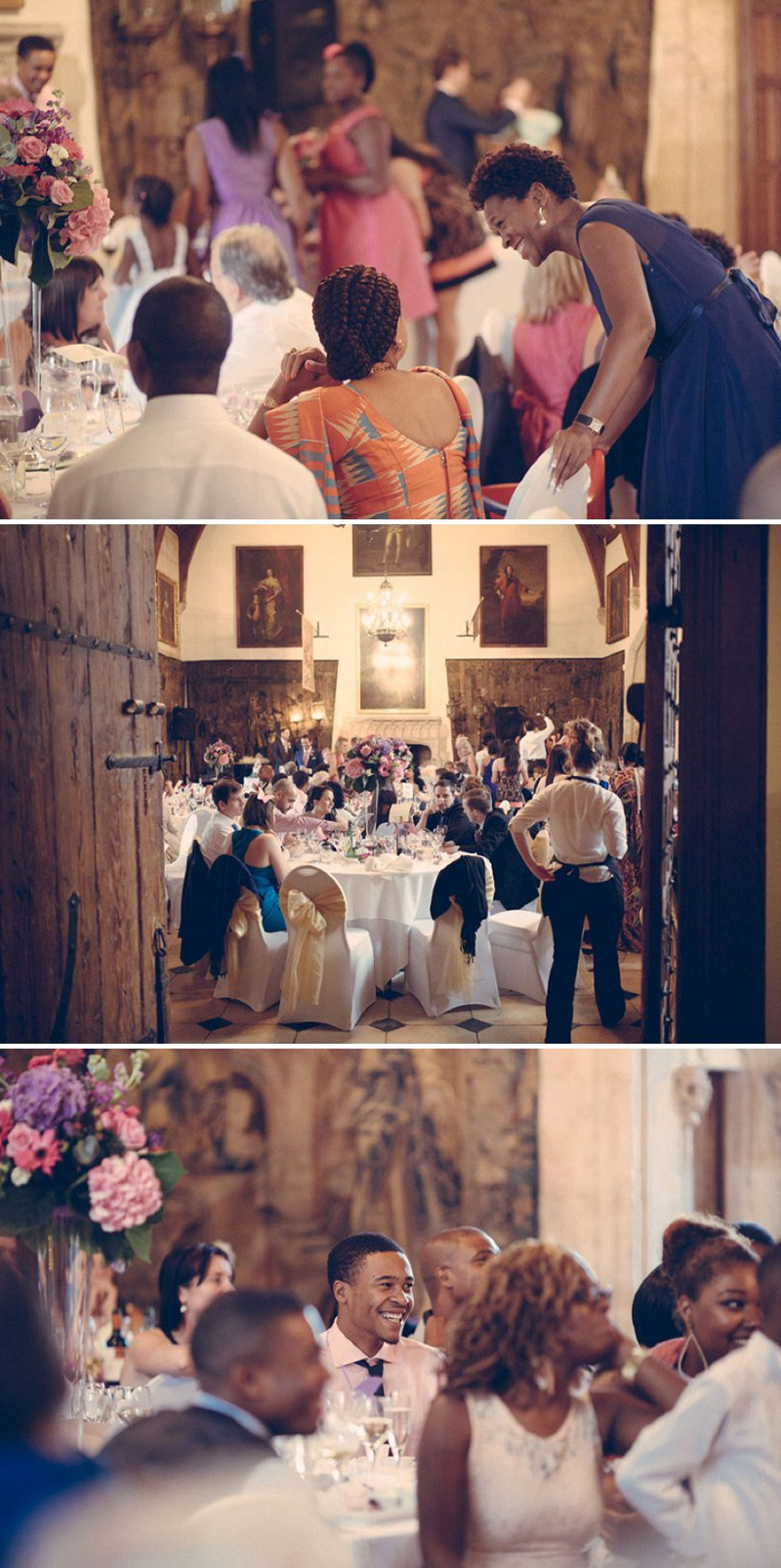 A Fairytale Castle Wedding At Berkeley Castle In Gloucestershire With Bride In Chardonnay By Maggie Soterro And Groom In Reiss With A Fushcia Pink And Cadbury Purple Colour Scheme And Images From Joseph Hall Photography 7
