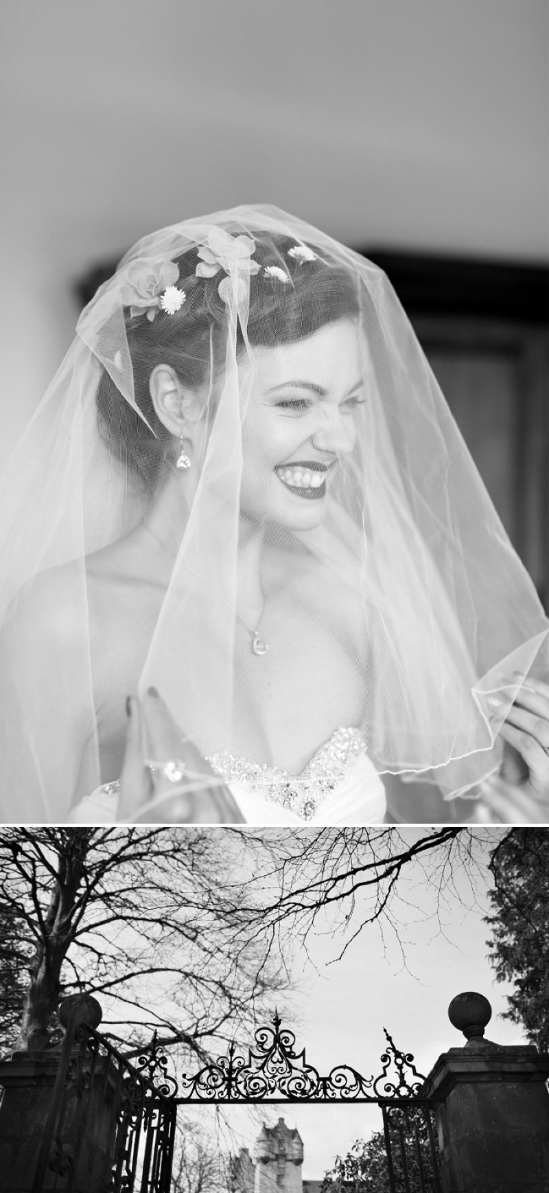 A Super Glamorous Spring Scottish Wedding At Fyvie Castle With An Ian Stewart Ruffled Fishtail Dress and A Yellow Billy Ball Bouquet With Photography By Craig and Eva Sanders._0004
