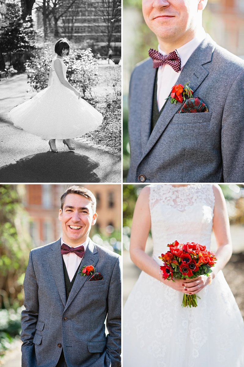 A vintage inspired wedding with Shakespeare theme and 50s style dress from Justin Alexander and 50s suits from Ted Baker and photography by Dominique Bader_0007
