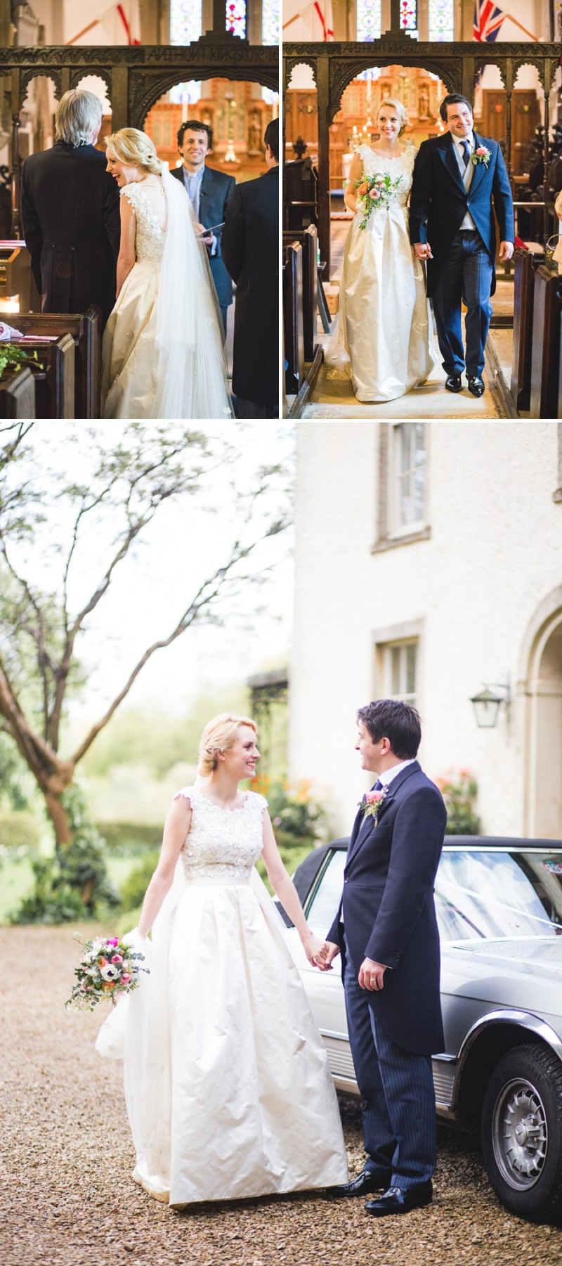 An Elegant English Wedding At The Matara Centre In The Cotswolds With A Bespoke Jenny Lessin Wedding Skirt and Top And Hot Pink Bridesmaid Dresses And A Gin And Tonic Cocktail Bar By M&J Photography._0004