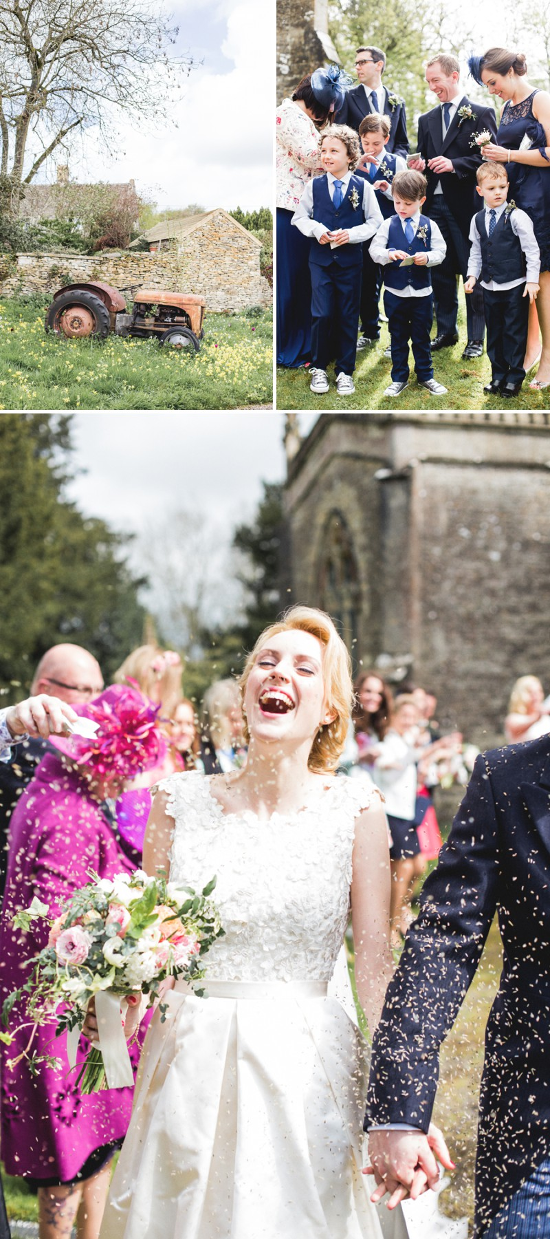 An Elegant English Wedding At The Matara Centre In The Cotswolds With A Bespoke Jenny Lessin Wedding Skirt and Top And Hot Pink Bridesmaid Dresses And A Gin And Tonic Cocktail Bar By M&J Photography._0005