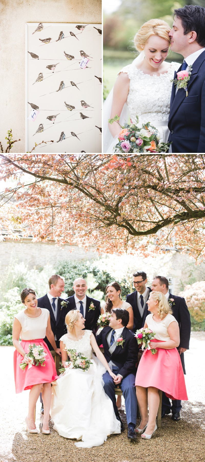 An Elegant English Wedding At The Matara Centre In The Cotswolds With A Bespoke Jenny Lessin Wedding Skirt and Top And Hot Pink Bridesmaid Dresses And A Gin And Tonic Cocktail Bar By M&J Photography._0010