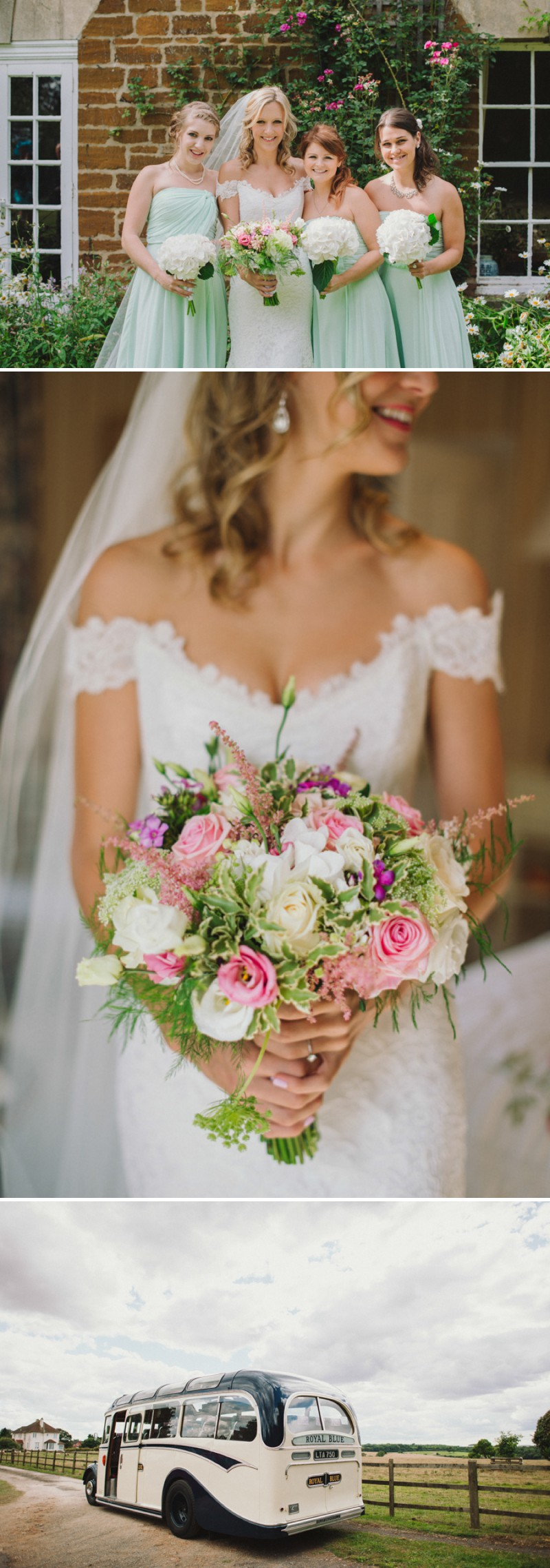 An English Back Garden Wedding With A Romona Keveza Dress And Jimmy Choos And A Pink Rose Bouquet With Mint Bridesmaid Dresses By KRAAN Wedding Photography._0005