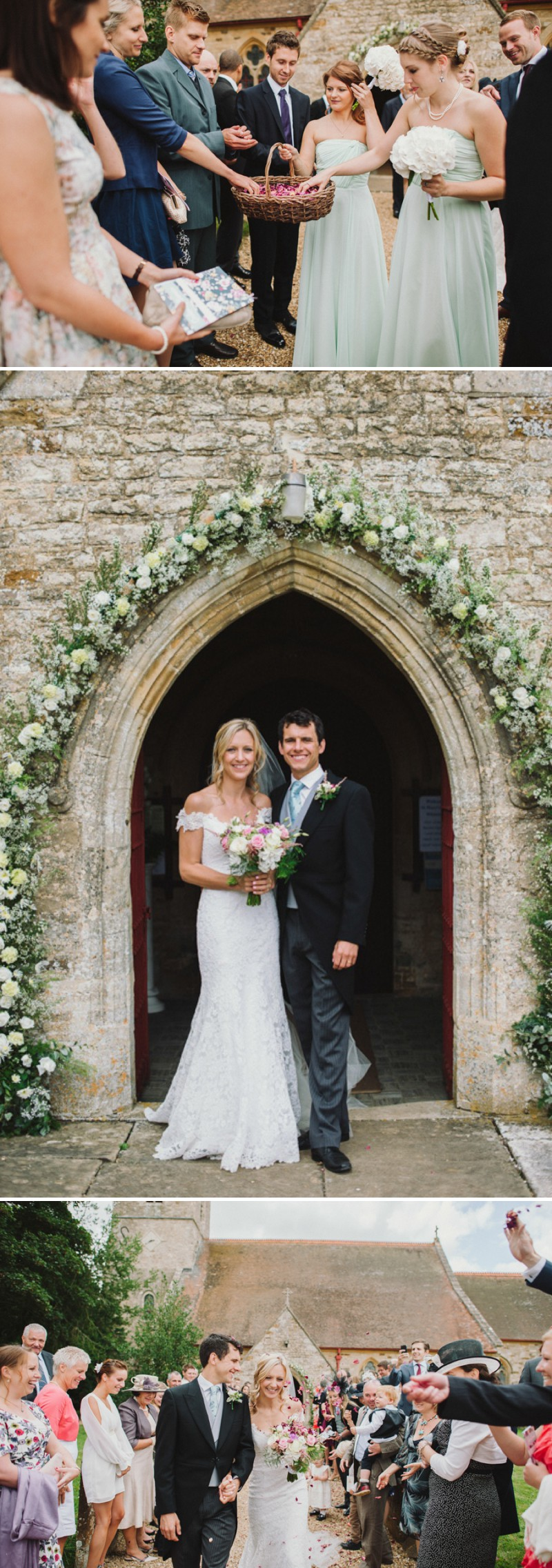 An English Back Garden Wedding With A Romona Keveza Dress And Jimmy Choos And A Pink Rose Bouquet With Mint Bridesmaid Dresses By KRAAN Wedding Photography._0006