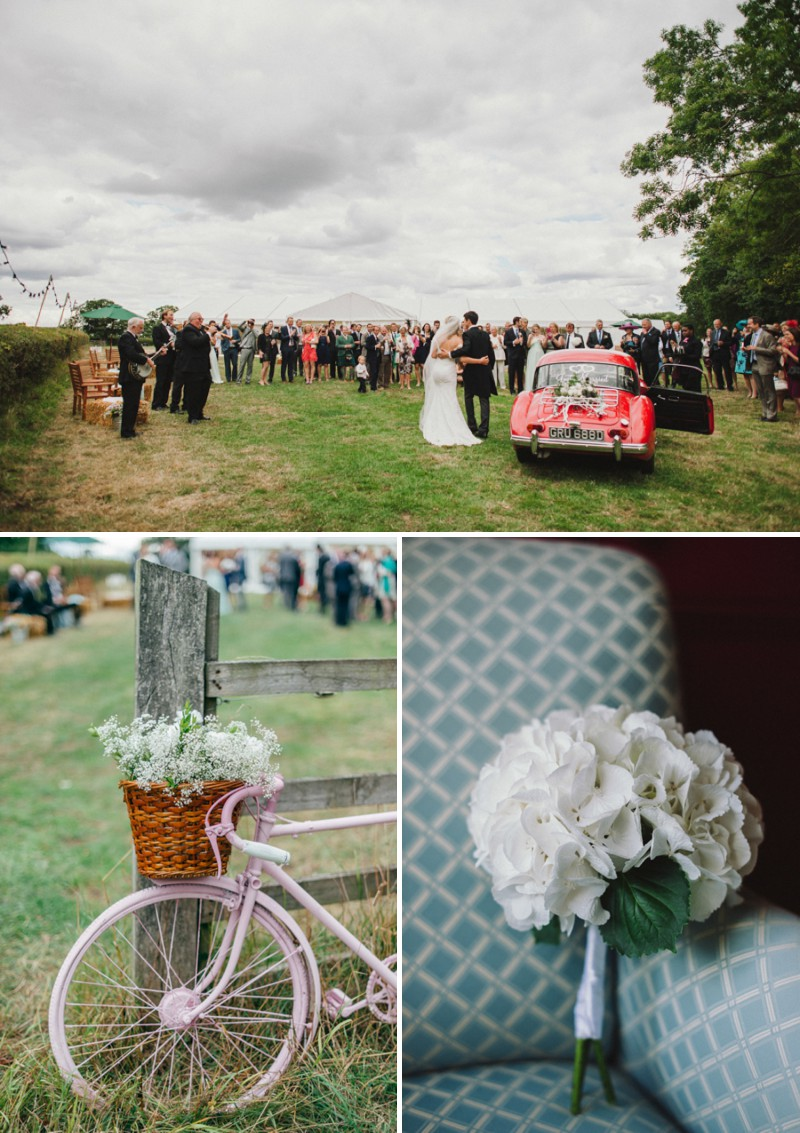 An English Back Garden Wedding With A Romona Keveza Dress And Jimmy Choos And A Pink Rose Bouquet With Mint Bridesmaid Dresses By KRAAN Wedding Photography._0007