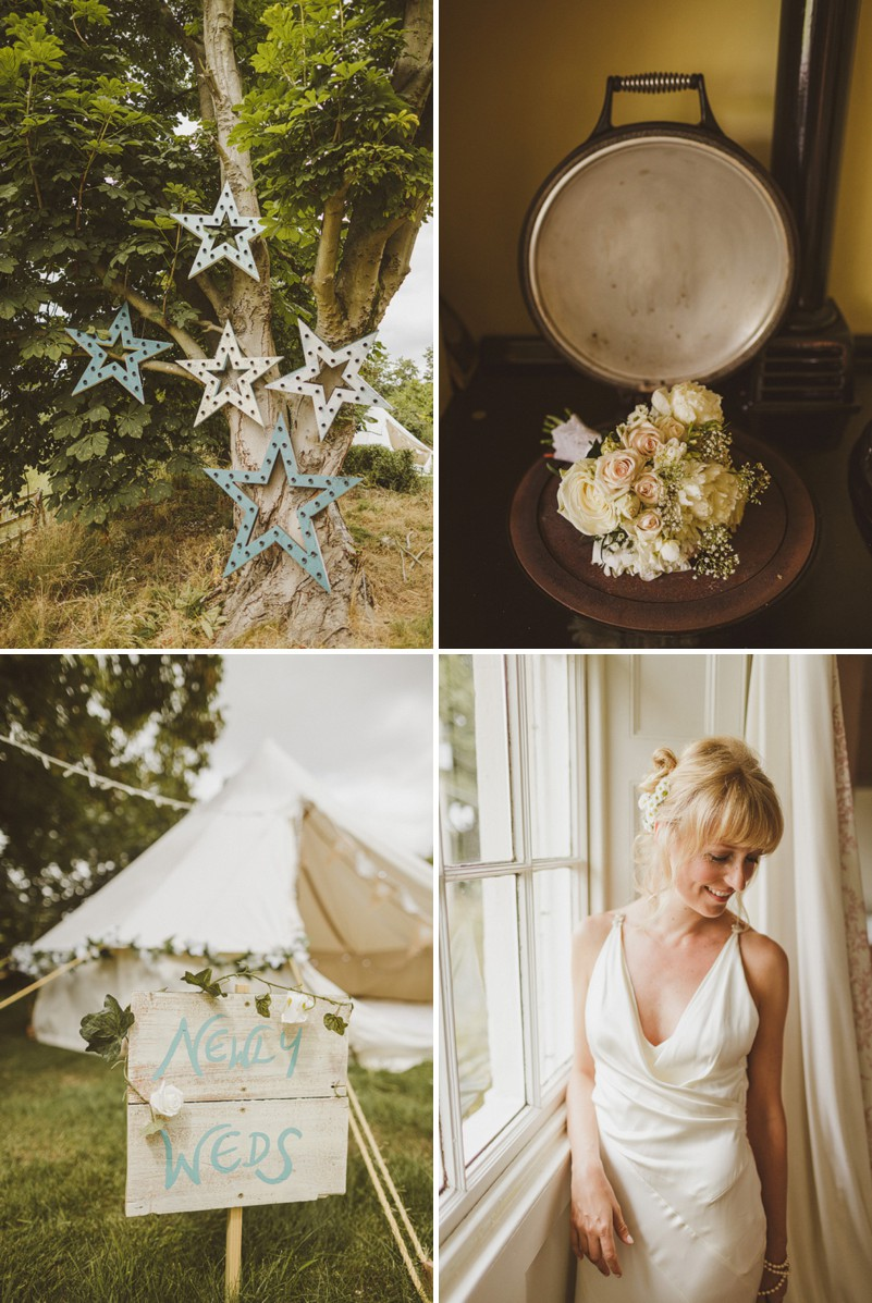 An Epic DIY Bohemian Wedding At Ratfyn Farm With A Jenny Packham Dress And A Humanist Ceremony And A Peach Colour Scheme Photographed By Ed Peers._0001