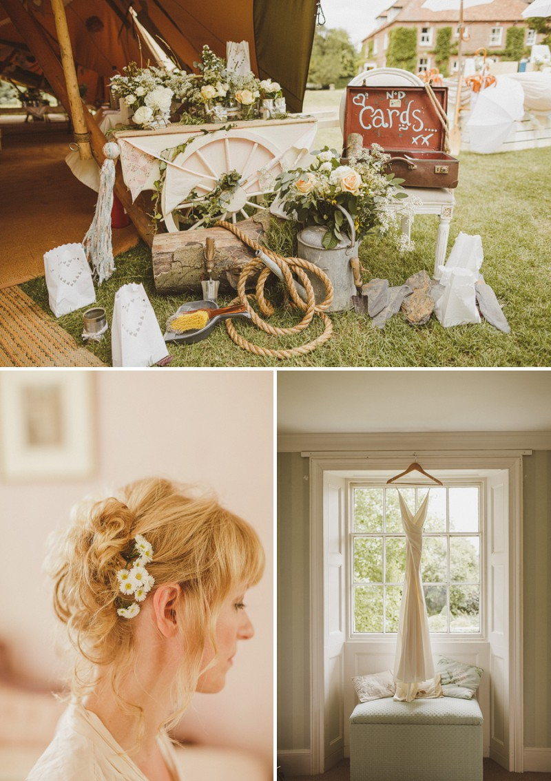 An Epic DIY Bohemian Wedding At Ratfyn Farm With A Jenny Packham Dress And A Humanist Ceremony And A Peach Colour Scheme Photographed By Ed Peers._0002