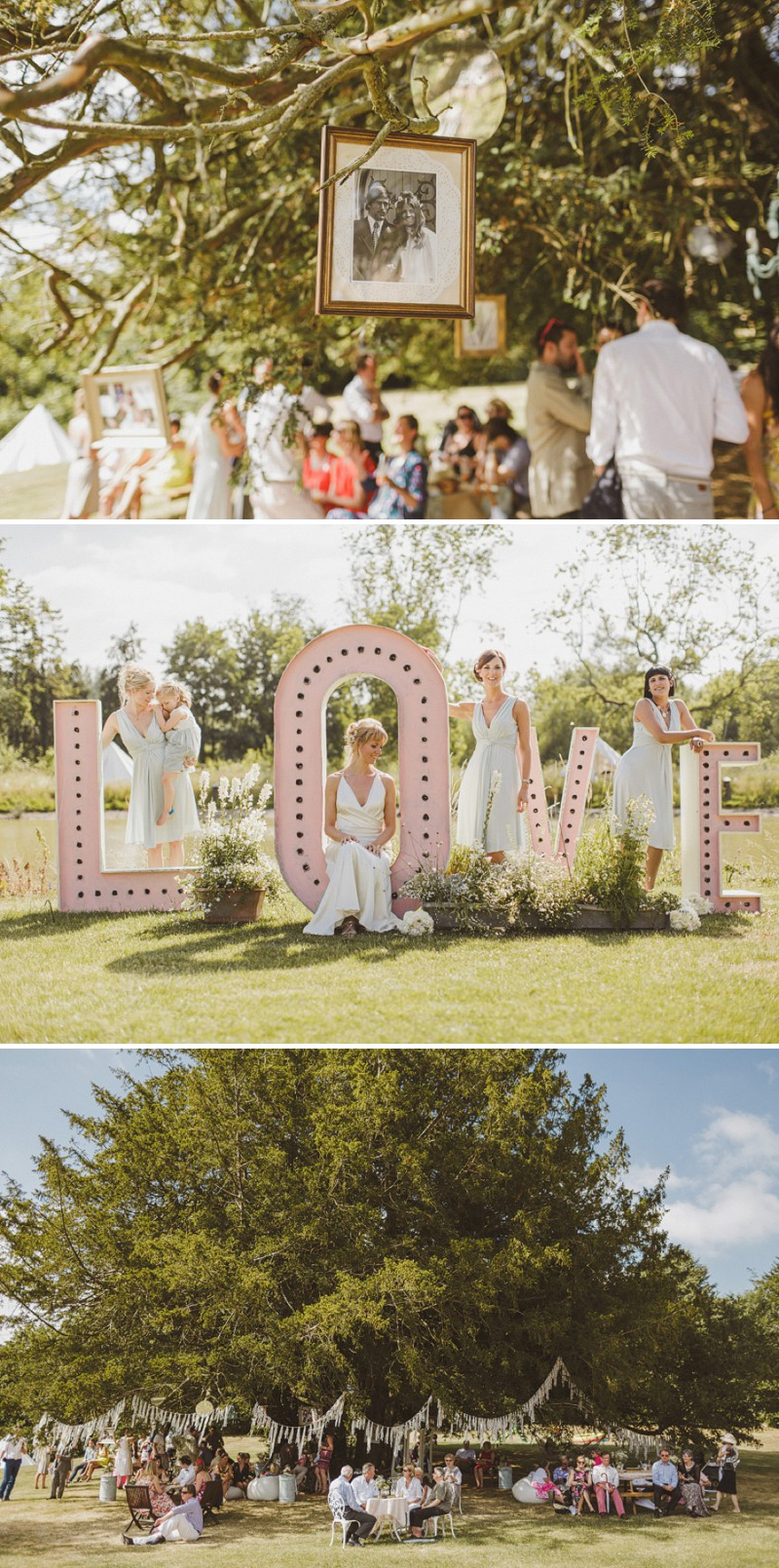 An Epic DIY Bohemian Wedding At Ratfyn Farm With A Jenny Packham Dress And A Humanist Ceremony And A Peach Colour Scheme Photographed By Ed Peers._0006
