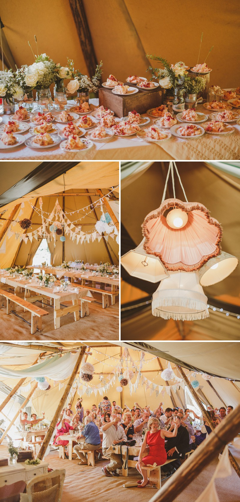An Epic DIY Bohemian Wedding At Ratfyn Farm With A Jenny Packham Dress And A Humanist Ceremony And A Peach Colour Scheme Photographed By Ed Peers._0009
