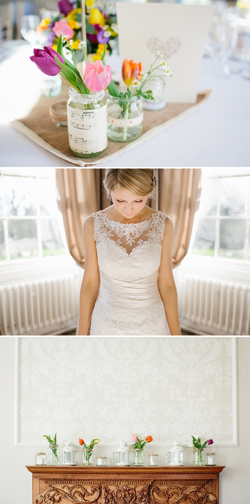An elegant welsh wedding at Eastington park with a vintage country theme and a lace fishtail justin alexander wedding dress with spring flowers and a tupli bouquet_0112