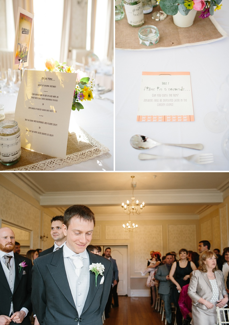 An elegant welsh wedding at Eastington park with a vintage country theme and a lace fishtail justin alexander wedding dress with spring flowers and a tupli bouquet_0113