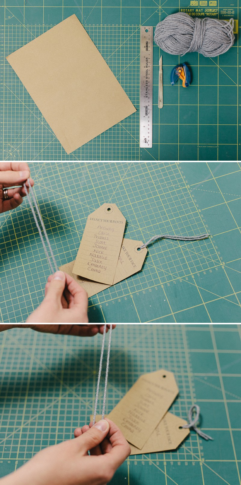 DIY Project on how to create a rustic table plan using luggage labels and badges for your wedding reception._0001