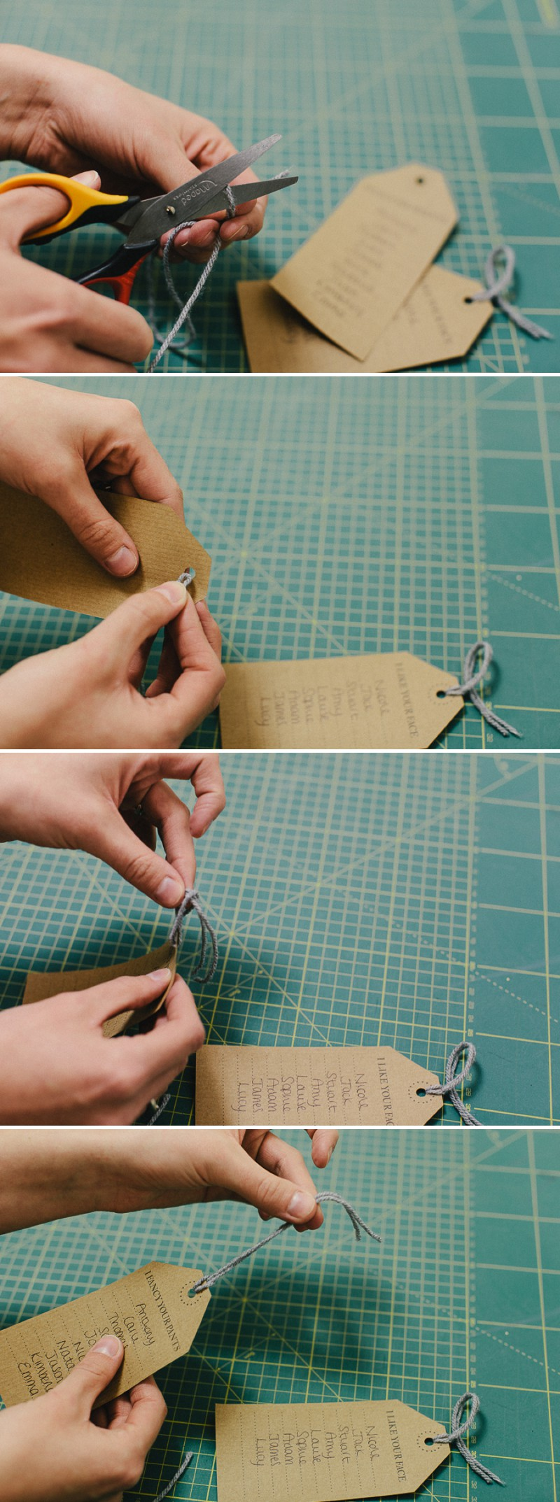 DIY Project on how to create a rustic table plan using luggage labels and badges for your wedding reception._0002