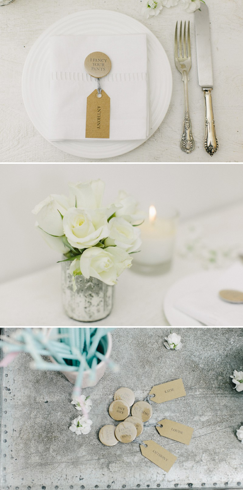 DIY Project on how to create a rustic table plan using luggage labels and badges for your wedding reception._0004
