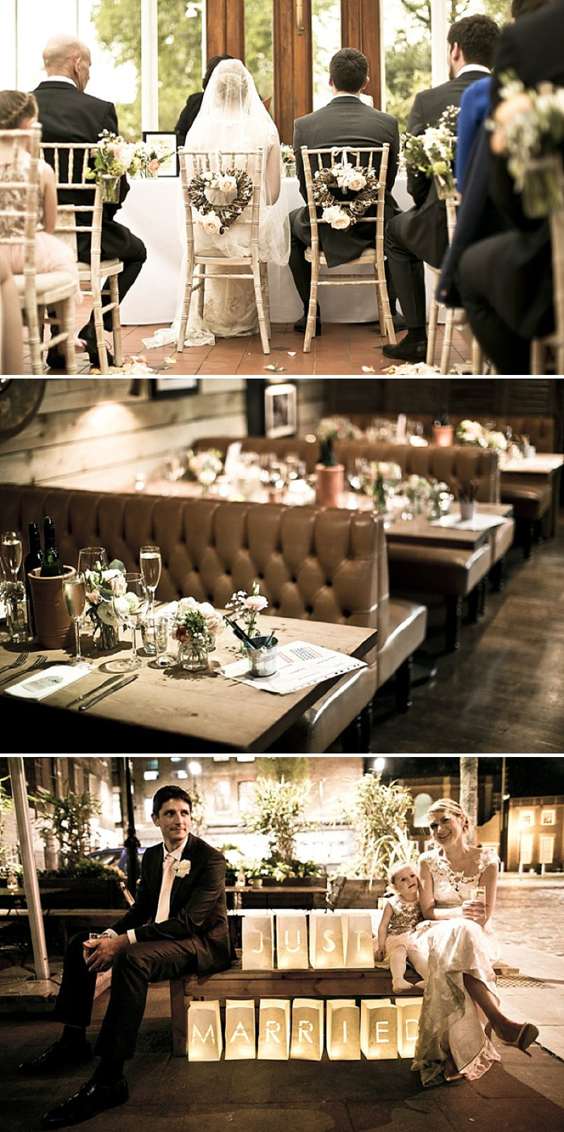 Laid Back London Wedding At The Horniman Museum With A Peach And Rose Gold Colour Scheme With Bride In Adagio By Claire Pettibone With Bridesmaids In Nude Dresses From Miss Selfridge 1
