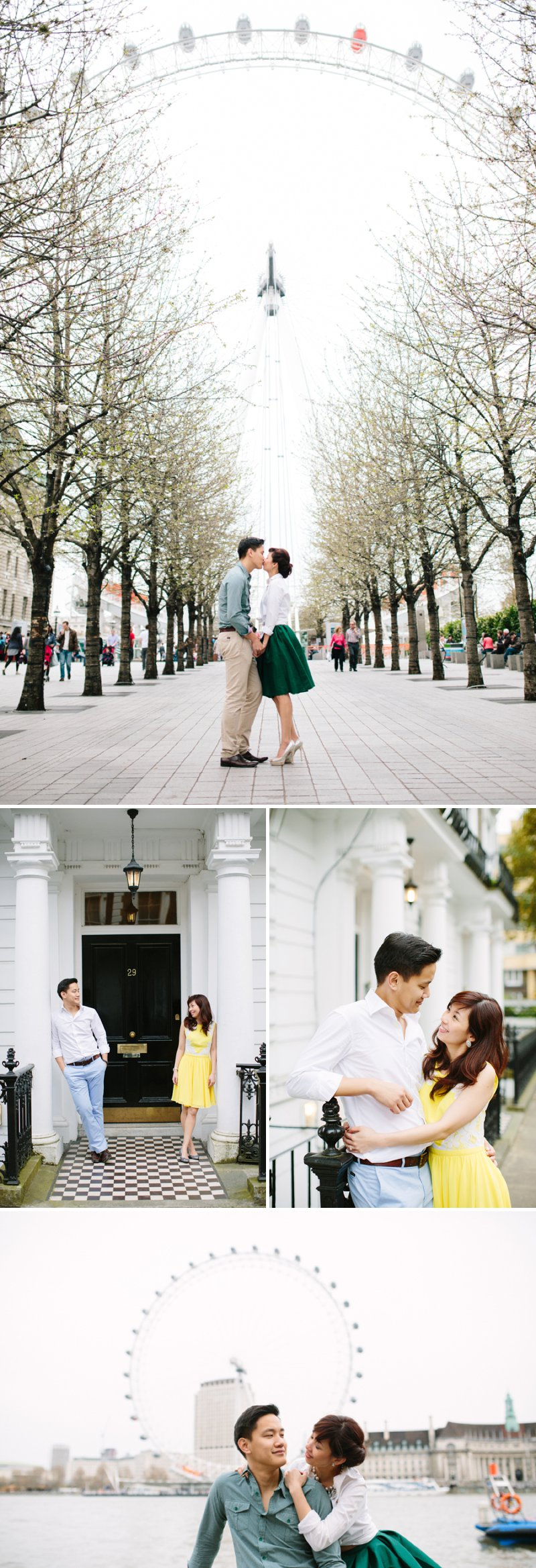 London Engagement Shoot Featuring The Houses Of Parliament, The London Eye And Peggy Porschen Cakes 1