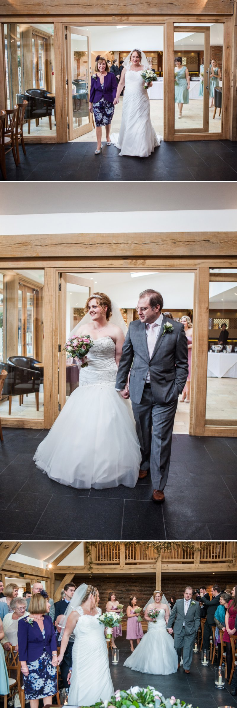 Rustic Same Sex Wedding At Mythe Barn With Brides In Traditional Ivory Gowns By Mori Lee And Donna Lee Designs With Bridesmaids In Dusky Pink And Sage Green 3