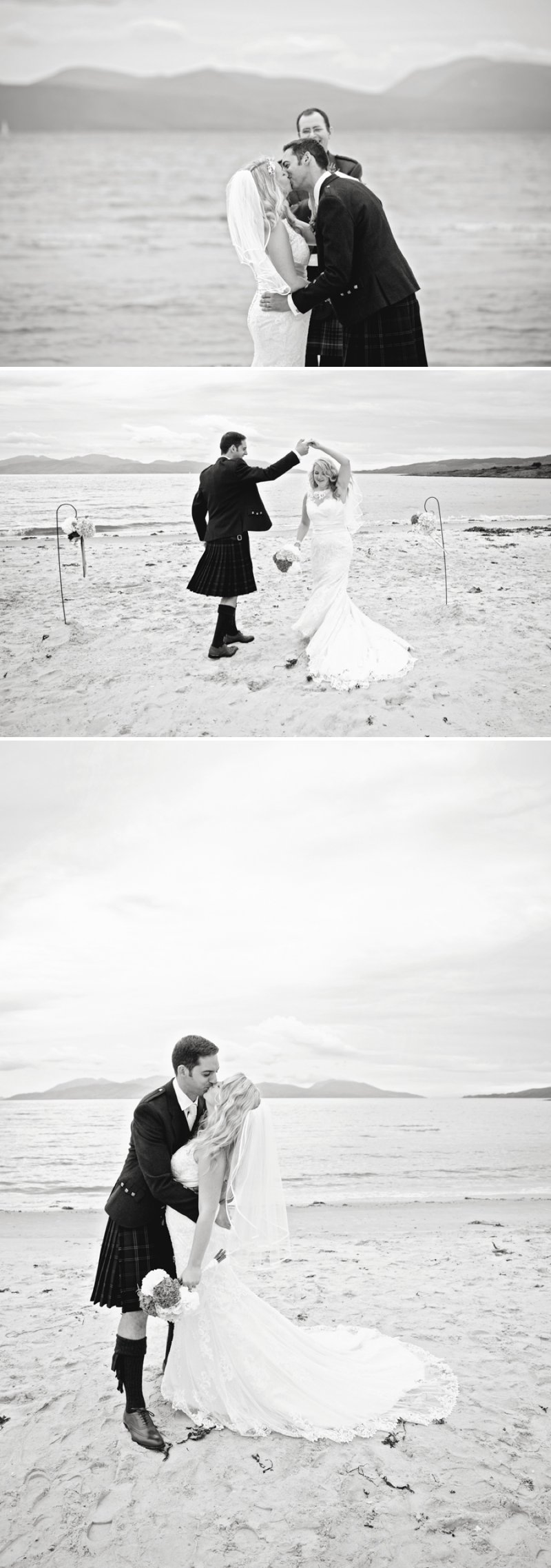 Rustic Scottish Beach Wedding With Bride In Justin Alexander And Vivien Of Holloway And Groom In Kilt With Bridesmaids In 50s Style Gowns With A Traditional Scottish Ceilidh 5