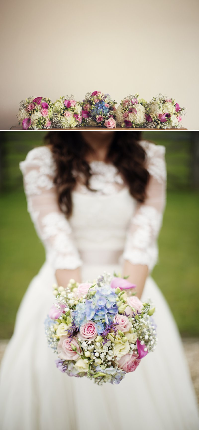 Rustic Wedding At Hyde Barn In Stow On The Wold With A Pale Pink Colour Scheme And Bride In Samantha By Sassi Holford With Bridesmaids In Pale Pink Twobirds Dresses With Groom In Navy Reiss Suit 4