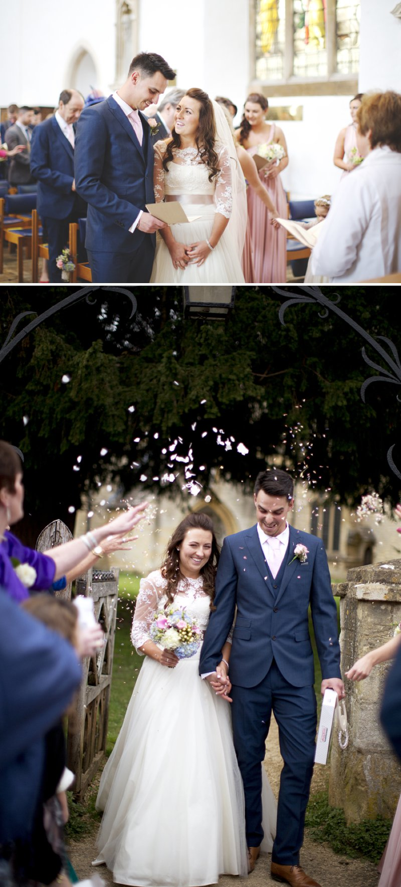 Rustic Wedding At Hyde Barn In Stow On The Wold With A Pale Pink Colour Scheme And Bride In Samantha By Sassi Holford With Bridesmaids In Pale Pink Twobirds Dresses With Groom In Navy Reiss Suit 6