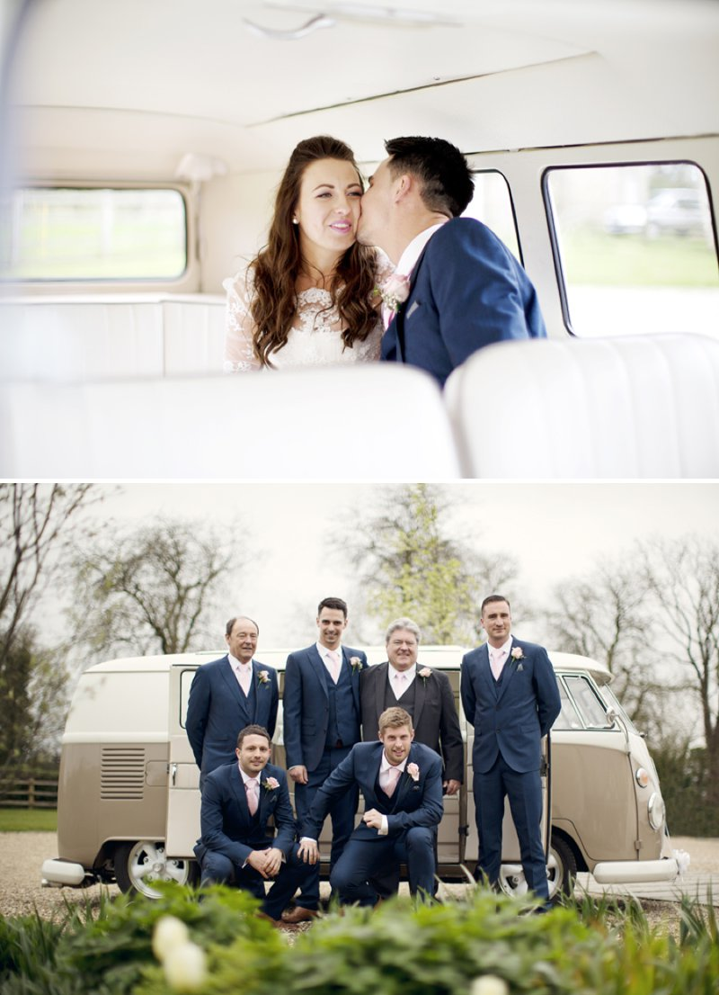 Rustic Wedding At Hyde Barn In Stow On The Wold With A Pale Pink Colour Scheme And Bride In Samantha By Sassi Holford With Bridesmaids In Pale Pink Twobirds Dresses With Groom In Navy Reiss Suit 8