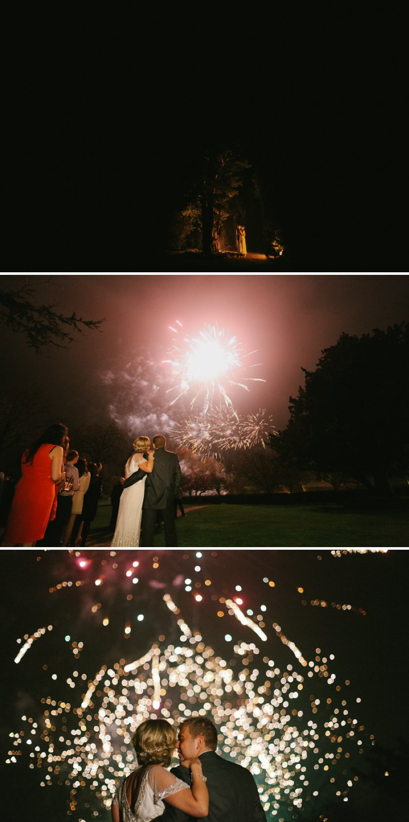 Vintage Inspired Wedding At Hazlewood Castle In Yorkshire With Bride In Foxglove By Jenny Packham And Bridesmaids In Pink Dresses From Coast With A Firework Display 11